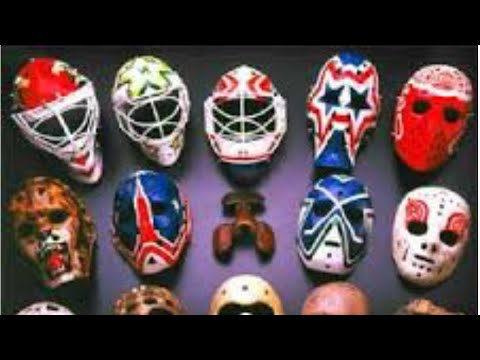 Hall Of Goalie Masks At The Hockey Hall Of Fame In Toronto. Amazing Masks With Cool Graphics Art!!