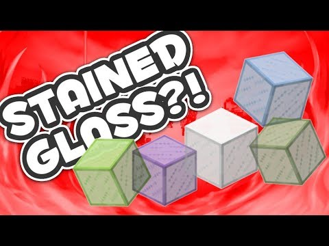 How to make colored glass in minecraft pe
