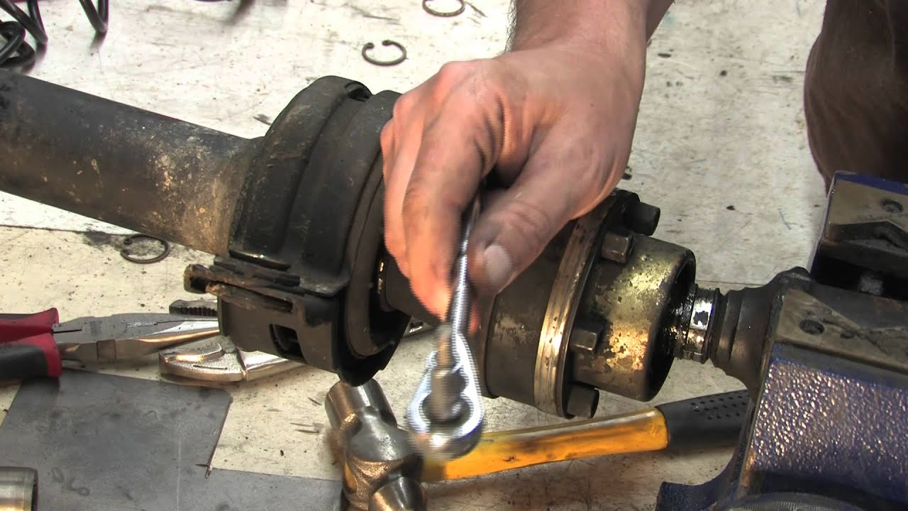 small resolution of driveshaft 103 replacing carrier bearings youtube 2004 dodge ram 1500 rear differential specs 2004 dodge ram rear differential