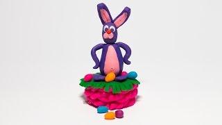 Пластилин Плей До. Как сделать Пасхального Кролика из пластилина Play Doh