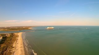 Disney Dream Departs Port Canaveral Peacock Beach Aerial Video