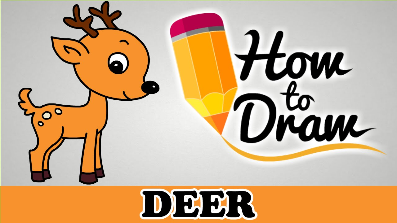how to draw a deer easy step by step cartoon art drawing lesson tutorial for kids beginners youtube