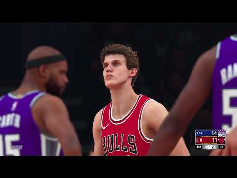 NBA 2K18 PS4 2017 2018 Season Sacramento Kings vs Chicago Bulls