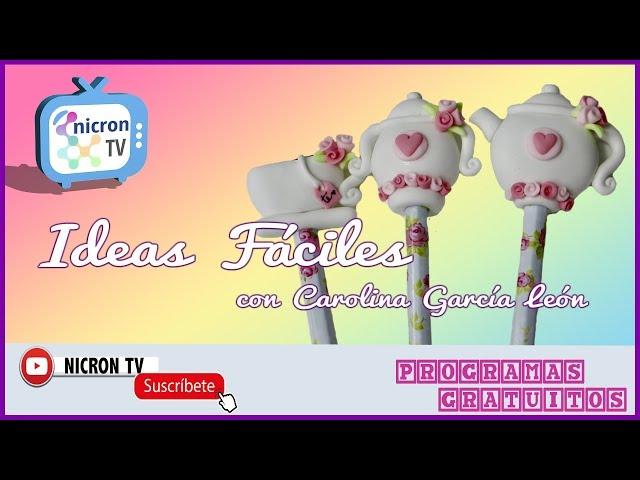 Ideas Fáciles NICRON TV - Como decorar lápices - Día del niño