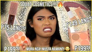 Cosmetics - SQUAD COSMETICS REVIEW & SWATCHES ON DARK SKIN!!! ANG MURA NAMAN?! BAKA MAPAPAMURA AKO SA BWISET!
