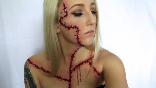 """Bride of Frankenstein Halloween Tutorial ♡ """"Autopsy Makeup"""""""