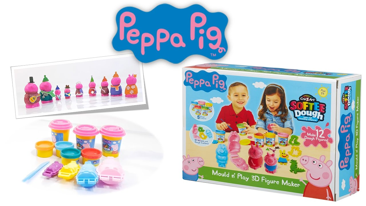 Let 39 S Play Peppa Pig Mould N Play 3d Figure Maker Youtube