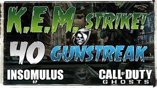 COD: Ghosts - K.E.M. Strike & 40 Gunstreak! (Call of Duty: Ghost Multiplayer Gameplay) thumbnail