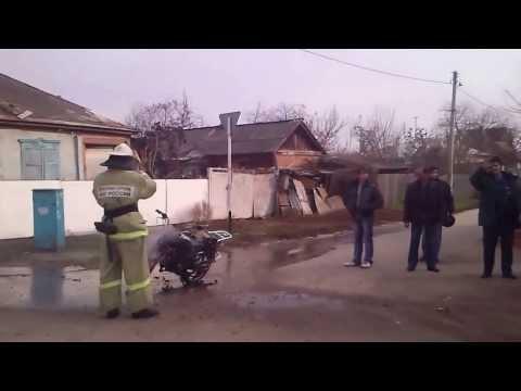 В Богучаре сгорел мопед.