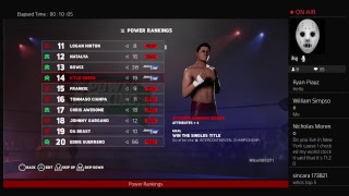 WWE 2k18 Universe mode Power Rankings for the week of 7\15\18