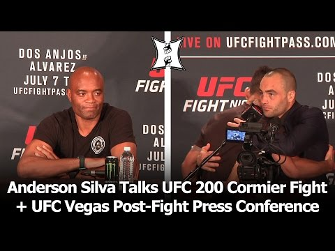 Silva Talks UFC 200 Cormier Fight at UFC Vegas Post-Fight Presser: Alvarez Is New Champ (LIVE!)