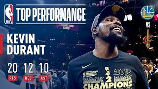 Kevin Durant's TRIPLE DOUBLE Helps The Warriors Win The 2018 NBA Title