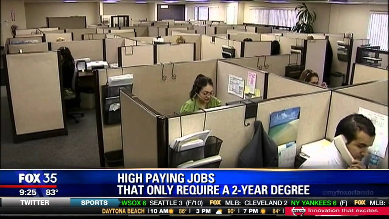 High Paying Jobs That Only Require A 2 Year Degree Youtube
