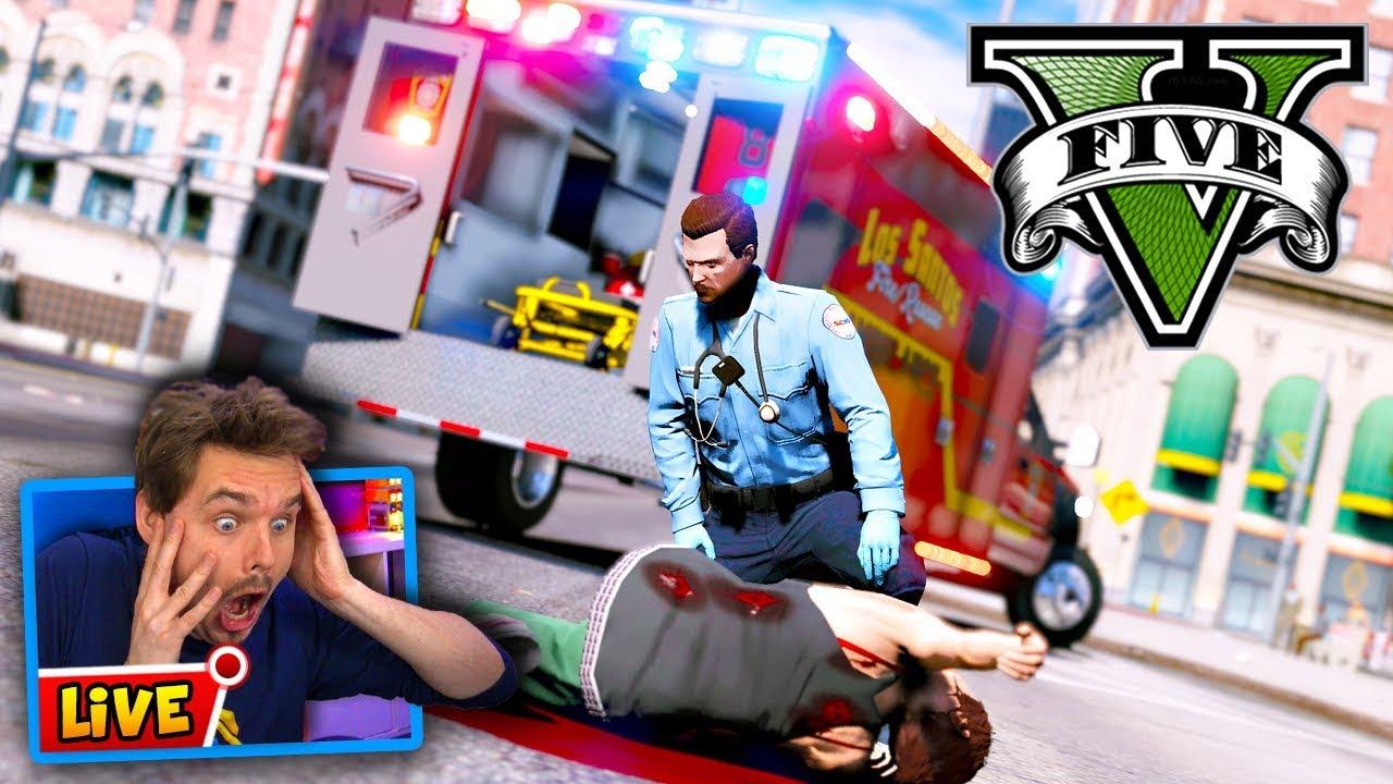 GTA 5 LIVE PARAMEDIC MOD Roleplay - Responding to Calls