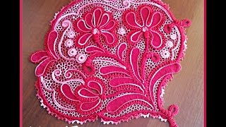 "Ирландское кружево - Мастер-класс ""Ирисы"" - часть 1. Irish lace crochet."