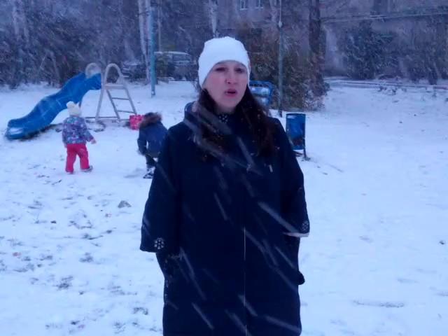 Изображение предпросмотра прочтения – МаринаМедянцева читает произведение «Вы, снежинки, вейте…» В.Я.Брюсова