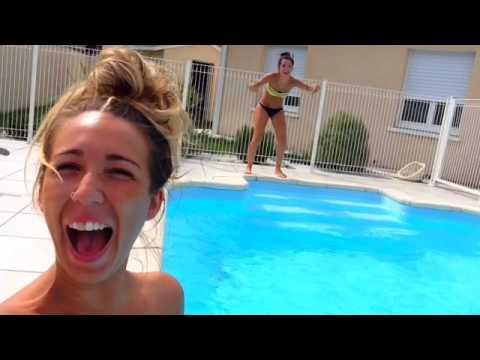 Journ e piscine soir e filles youtube for Journee piscine