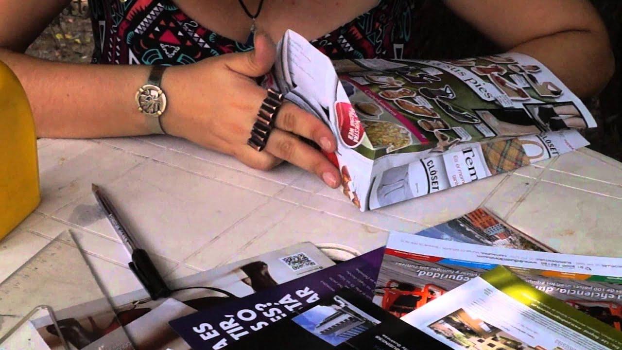 7ce23bf4e Bolsas recicladas, hechas con revistas. - YouTube