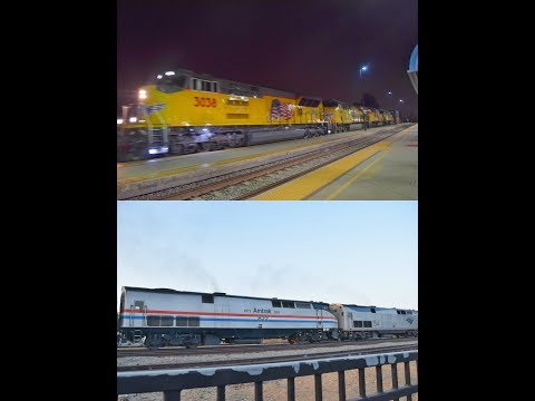 8-25,26-17!!! Railfanning Fullerton Montebello & Commerce!! Featuring AMTK 822, a T4 sd70ACe & MORE!