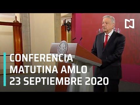 Conferencia matutina AMLO / 23 de septiembre 2020