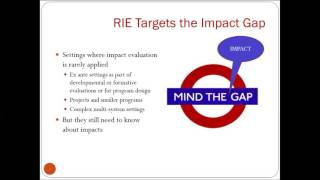 Part I. Rapid Impact Evaluation (RIE). Method Overview