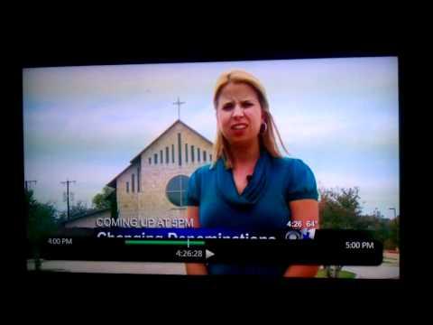 News reporter blooper, CBS 11 Dallas KTVT