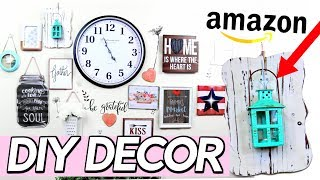 UNDER 5 MINUTE DIY DECOR | RUSTIC WALL DECOR ON A BUDGET! Sensational Finds
