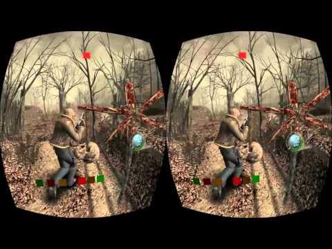 Resident Evil 4 on the Oculus Rift! Abnormal Grim's (Terrible) VR HALLOWEEN - Part 2