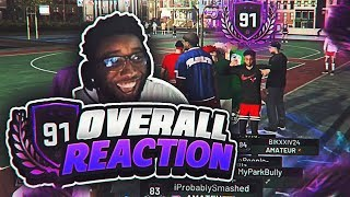 91 OVERALL REACTION! I CAN FINALLY TAKE OFF MY SHIRT! THIS BIKE GOES CRAZY! NBA 2K19