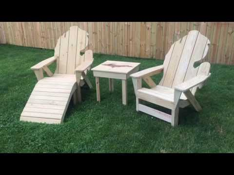 Michigan Adirondack Chair by Thompson Woodworks Facebook.com/MIwoodworks