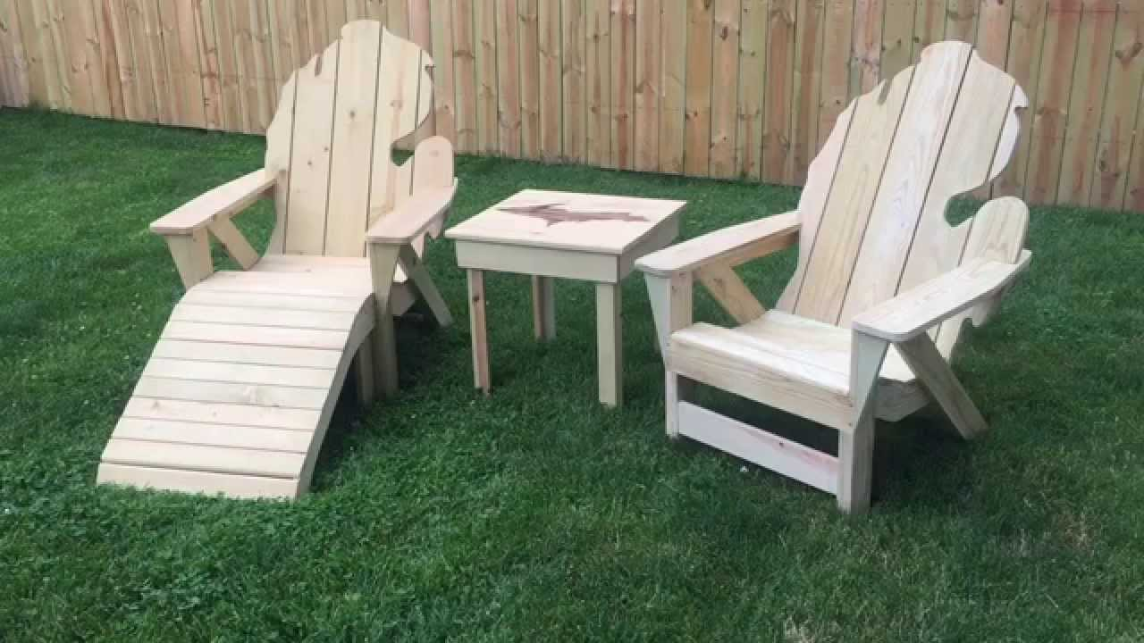 Michigan adirondack chair by thompson woodworks youtube - Patterns for adirondack chairs ...