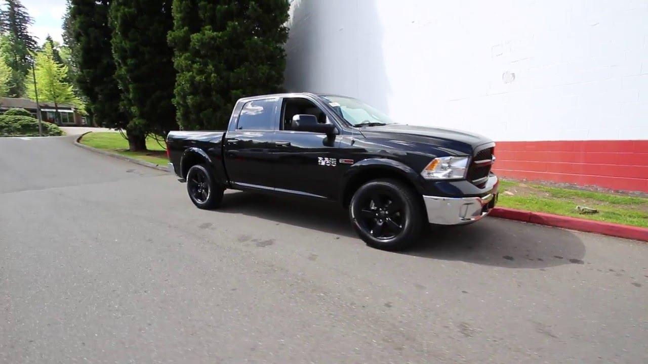 2016 Dodge Ram 1500 Outdoorsman Black Gs304293
