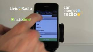 Car Internet Radio App for iPhone www.livioradio.com/car   Livio Radio
