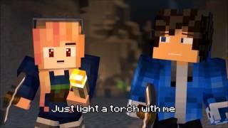 """Shut up and Mine""-Minecraft parody of shut up and dance by walk moon (Animation By Radapedaxa)"