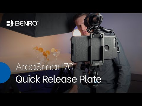 ArcaSmart70 Quick Release Plate | Two-in-One Plate for Mounting Cameras and Smartphones