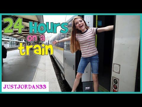 24 HOURS On A TRAiN / JustJordan33