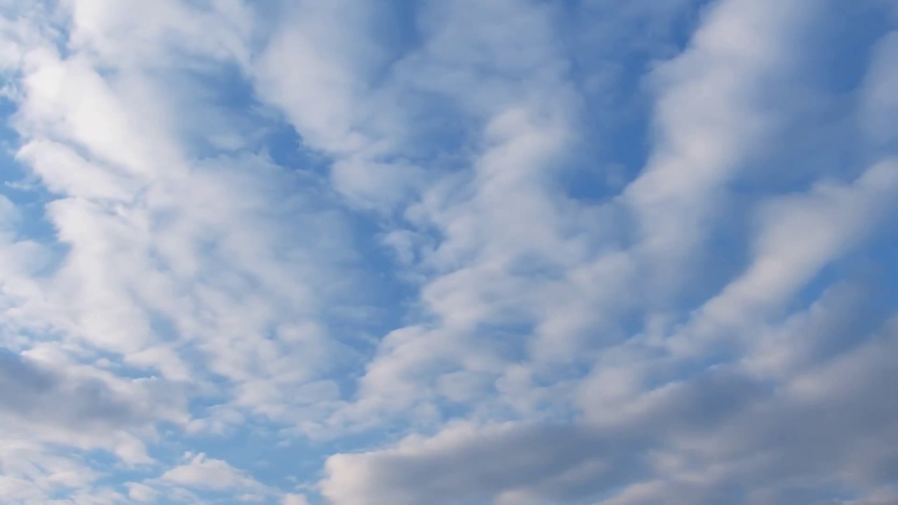 White Clouds in a Blue Sky Time Lapse - Video & Audio [1080HD] SlowTV