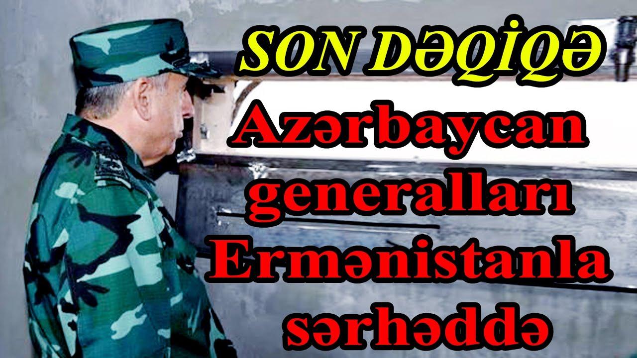 Azərbaycan generalları Ermənistanla sərhəddə - FOTO