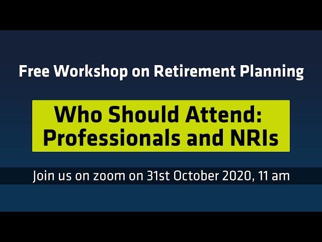 Free Workshop on Retirement Planning