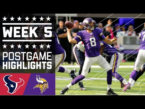 Texans vs. Vikings | NFL Week 5 Game Highlights