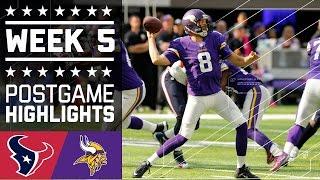 Texans vs. Vikings | NFL Week 5 Game Highlights