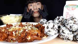 무뼈닭발 먹방   정든닭발 2인분 + 주먹밥 + 계란찜…