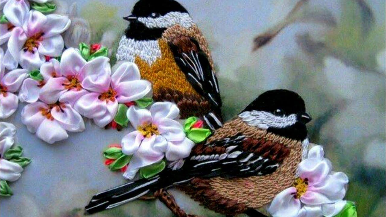 Hand Embroidery Birds Designs Sparrow Embroidery Bird Designs