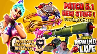 GUIDED MISSILE RIDING ! on FLY Explosives ! Patch 5.1 ツ ► Fortnite Battle Royale 🔴 Live RW