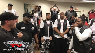 Prospects cross over on the phoenix ruff ryders 13th year annual... proud of you!. welcome to our lifestyles family.