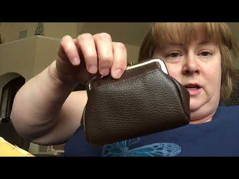 Buxton Leather Triple Frame Coin Purse Unboxing