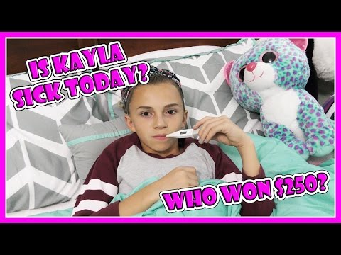 WHO WON THE CASH GIVEAWAY? | DOES KAYLA END UP SICK IN BED? | We Are The Davises