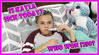 DOES KAYLA END UP SICK IN BED? | We Are The Davises