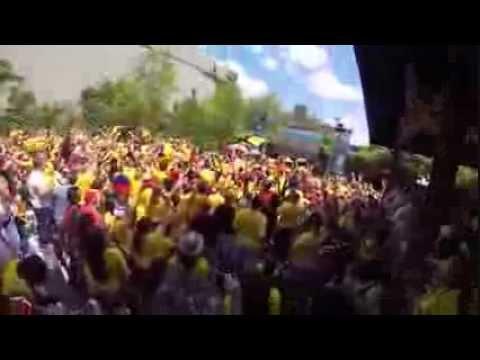Colombia vs Greece at Studio Square World Cup Brazil 2014