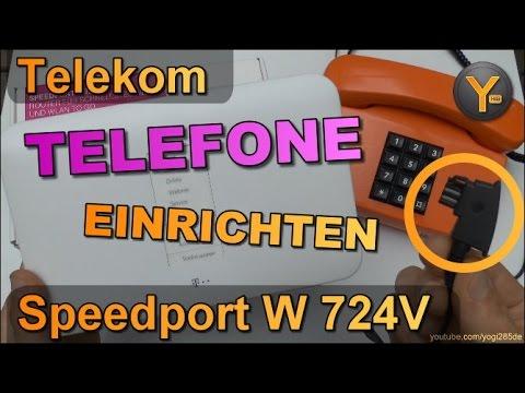 Telekom Speedport W724V: Einrichtung von analogen Telefonen